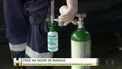 Crise em Manaus: Governo pede ajuda aos EUA para transporte de cilindros de oxigênio