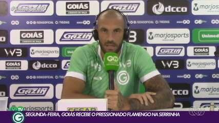 Goiás mira duelo contra o Flamengo, segunda-feira, na Serrinha