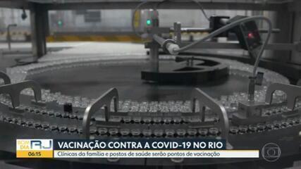 Postos de Saúde e Clínicas da Família serão pontos de vacinação no Rio