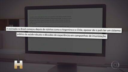 Início da campanha de vacinação contra a Covid-19 no Brasil repercute no mundo