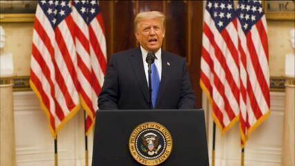 Trump se despede da presidência dos EUA: 'Orgulhoso de tudo que conquistamos juntos'