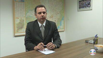Senador Rodrigo Pacheco (DEM) lança oficialmente sua candidatura à Presidência da Senado
