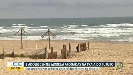 Duas adolescentes morrem afogadas na Praia do Futuro