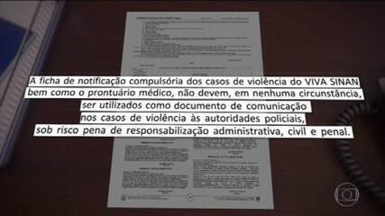 Unidades de saúde têm que informar à polícia casos de violência contra mulher