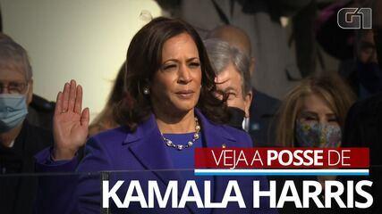 VÍDEO: Kamala Harris faz juramento e toma posse como vice-presidente dos EUA