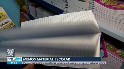 Setor de papelaria registra queda nas vendas de material escolar em Juiz de Fora