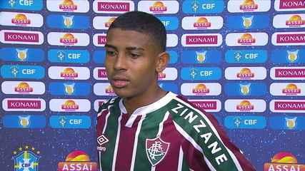 Emocionado, John Kennedy fala sobre primeiro gol pelo Fluminense e empate diante do Coritiba