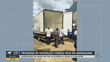 Programa de vacinação em Araraquara começa nesta quinta-feira