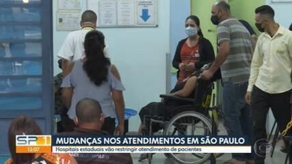 Mesmo com avanço da pandemia, governo de SP decide restringir atendimento em hospitais da capital