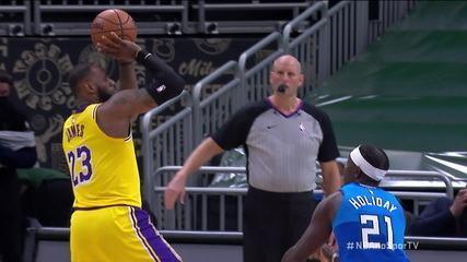 Melhores momentos: Los Angeles Lakers 113 x 106 Milwaukee Bucks pela NBA