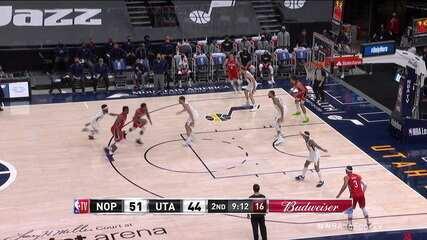 Melhores momentos: Utah Jazz 129 x 118 New Orleans Pelicans pela NBA