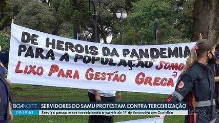 Servidores do SAMU protestam contra terceirização na capital