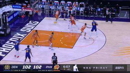 Melhores momentos: Phoenix Suns 126 x 130 Denver Nuggets pela NBA