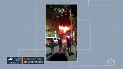 Incêndio atinge supermercado, na Região Norte de Belo Horizonte