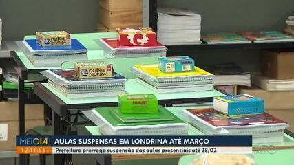 Prefeitura de Londrina suspende volta presencial das aulas até março de 2021