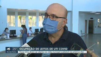 Ocupação de leitos de UTI para Covid chega a 91% na rede municipal em Campinas