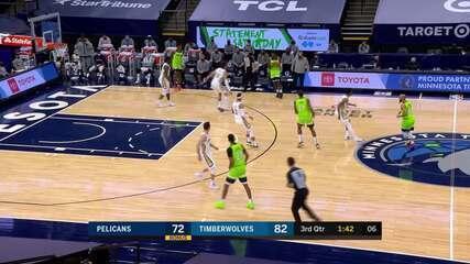 Melhores Momentos: Minnesota Timberwolves 120 x 110 New Orleans Pelicans pela NBA