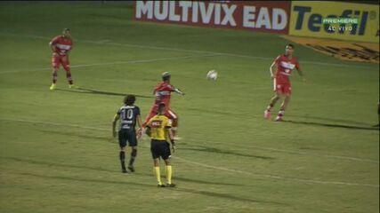 Gol do CRB! Daniel Amorim ajeita de peito e Luiz Paulo pega de primeira para diminuir