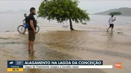 Casan explica as causas do alagamento na Lagoa da Conceição