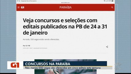 Confira as vagas ofertadas em editais para esta semana, na Paraíba