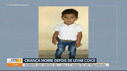 Criança morre depois de levar coice de cavalo, em Niquelânida