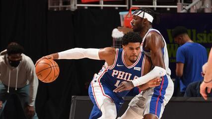 Melhores momentos: Detroit Pistons 119 x 104 Philadelphia 76ers pela NBA