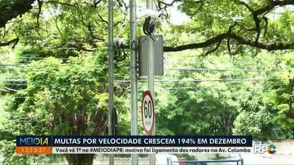 Multas por velocidade crescem 194% em dezembro em Maringá