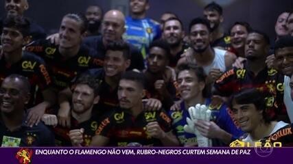 Antes de jogo contra Flamengo, Sport curte semana de paz