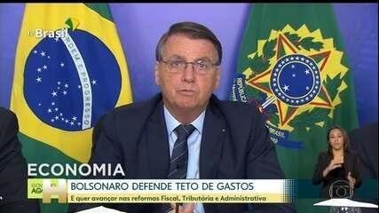 Bolsonaro defende teto de gastos, regra que limita a expansão de gastos públicos