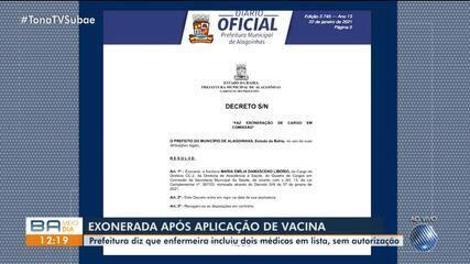 Servidora é exonerada em Alagoinhas por ter pêgo doses de vacinas contra a Covid