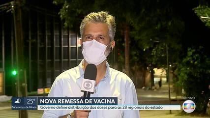 Governo define distribuição de doses de vacina contra Covid-19 para as 28 regionais