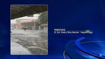 Moradores registram chuva de granizo em Itapetininga