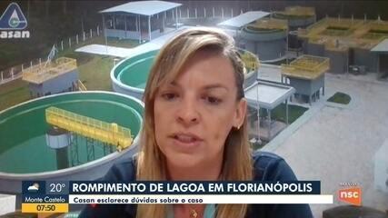 Casan esclarece dúvidas sobre o caso rompimento de lagoa em Florianópolis