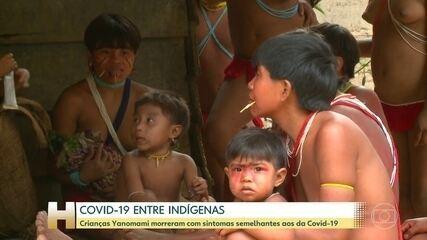 Crianças Yanomami morreram com sintomas semelhantes aos da Covid-19