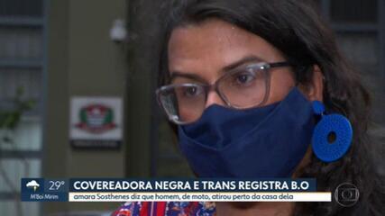 Covereadora negra e trans registra boletim de ocorrência