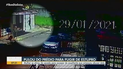 Mulher pula do 1º andar de prédio para fugir de ladrão que ameaçou estuprá-la, diz polícia