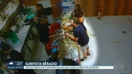Polícia indicia surfista Felipe Cesarano por homicídio doloso; vídeo mostra ele bebendo e dirigindo em alta velocidade