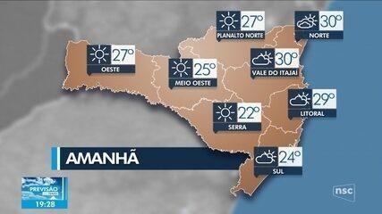 Confira da previsão do tempo para Santa Catarina