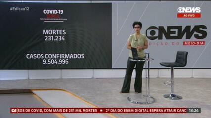 Brasil registra 231.234 mortes causadas pela Covid-19