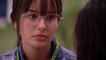 BBB21: Após emparedar Juliette pelo Big Fone, Thaís confessa: 'Ela já foi no primeiro Paredão'