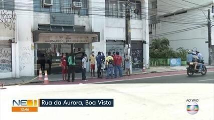 Mulher morre ao ser atingida por parte da fachada de prédio na Rua da Aurora, no Recife
