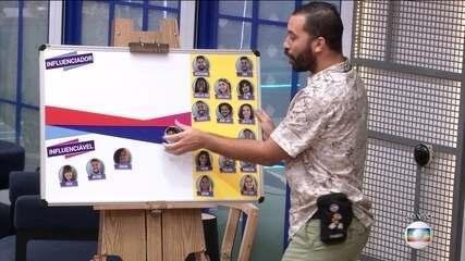 Gilberto conta 'Quem é o Influenciador' da casa e 'Quem é o Influenciado'