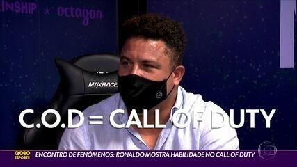 Encontro de fenômenos: Ronaldo mostra habilidade no Call of Duty