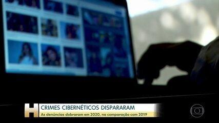 Denúncias envolvendo crimes cibernéticos dobraram em 2020, na comparação com 2019