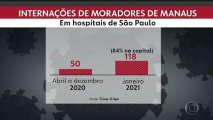 Em menos de um mês, dobra número de moradores de Manaus (AM) internados em SP