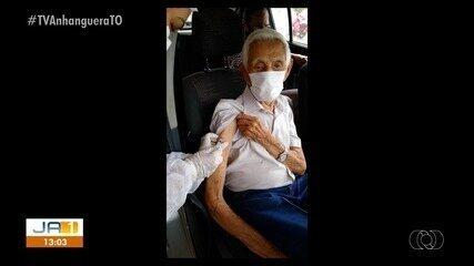 Veja fotos dos primeiros idosos vacinados contra a Covid-19 no Tocantins