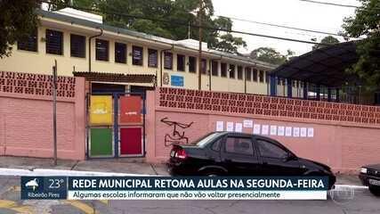 Rede Municipal retoma aulas na segunda-feira