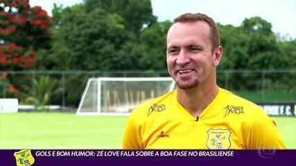 Gols e bom humor: Zé Love vive boa fase no Brasiliense