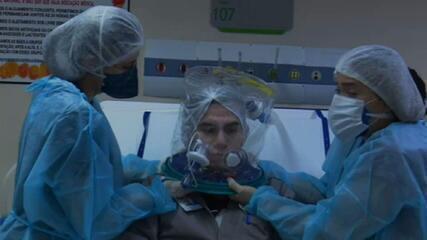 VÍDEO: Entenda como funciona o elmo que é alternativa para tratamento de pacientes de Covid-19