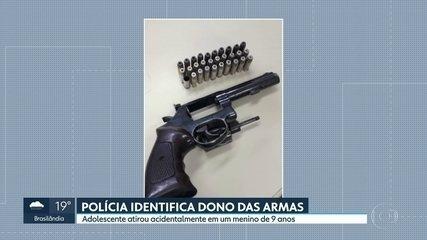 Polícia identifica dono do revólver que disparou tiro que atingiu um menino de 9 anos.